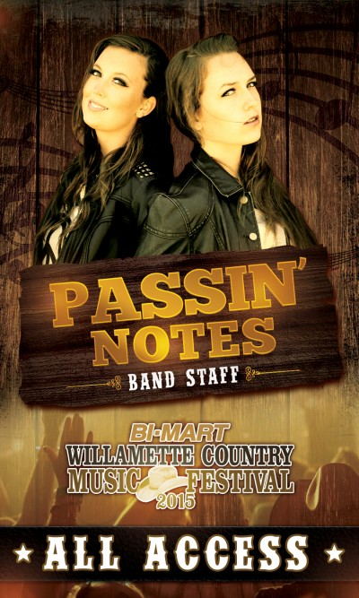 Custom Event / VIP Pass Design - Passin' Notes