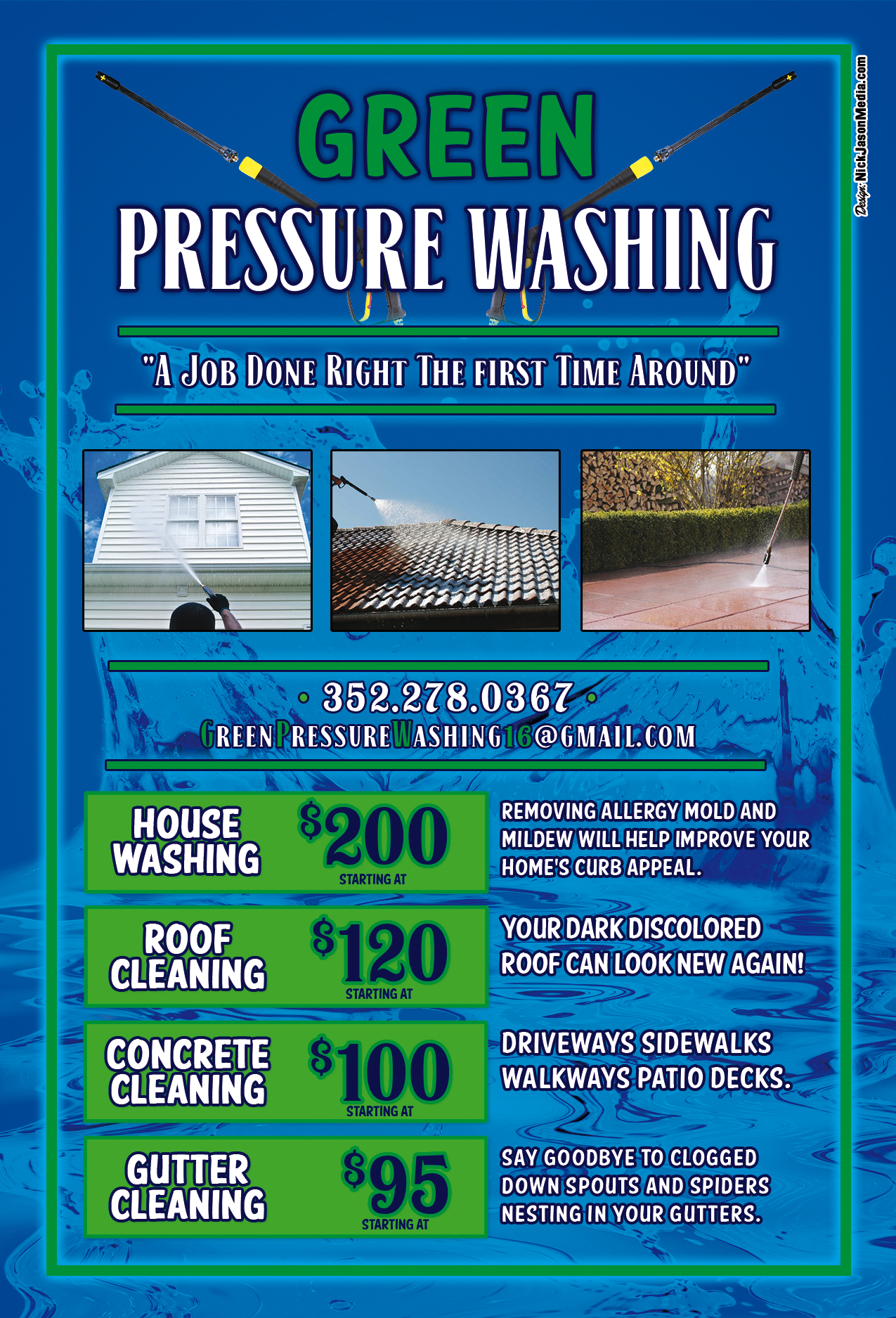 Flyer Design: Green Pressure Washing (Front)